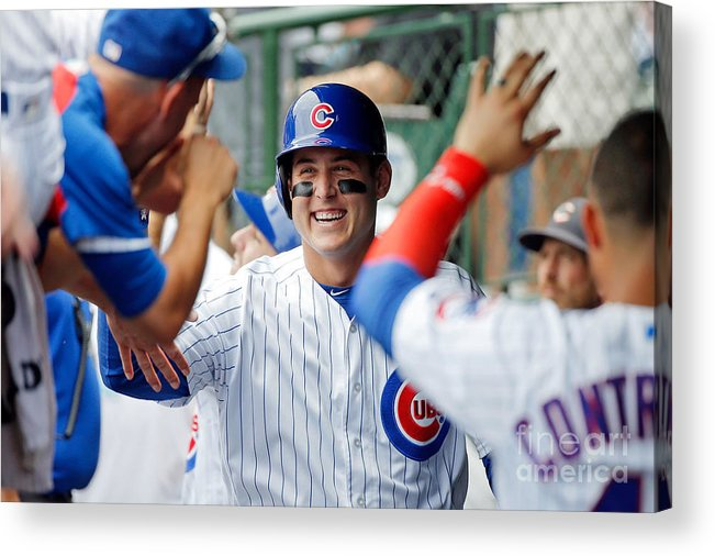 People Acrylic Print featuring the photograph Anthony Rizzo by Jon Durr