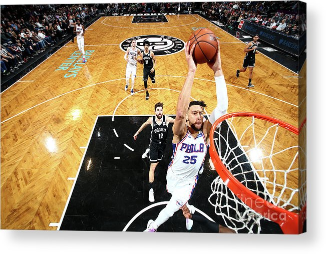 Nba Pro Basketball Acrylic Print featuring the photograph Ben Simmons by Nathaniel S. Butler