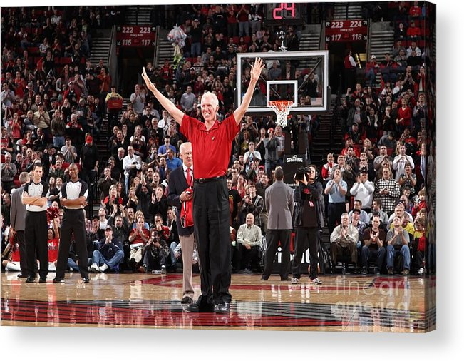 Nba Pro Basketball Acrylic Print featuring the photograph Bill Walton by Sam Forencich