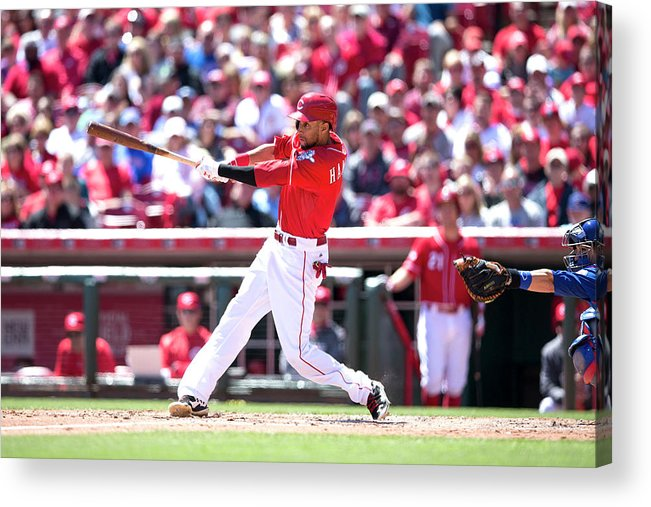 Great American Ball Park Acrylic Print featuring the photograph Billy Hamilton by Taylor Baucom
