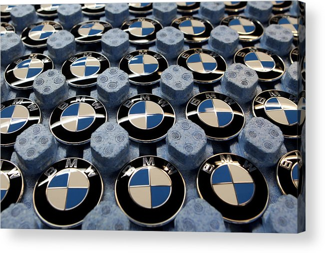 Logo Acrylic Print featuring the photograph BMW Ahead Of 2009 Earnings by Miguel Villagran