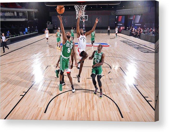 Nba Pro Basketball Acrylic Print featuring the photograph Boston Celtics v Toronto Raptors by Bill Baptist