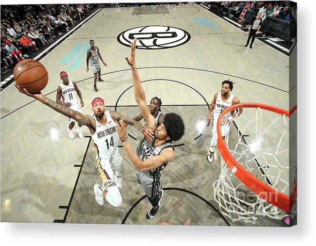 Nba Pro Basketball Acrylic Print featuring the photograph Brandon Ingram by Nathaniel S. Butler