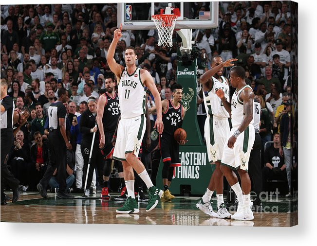Playoffs Acrylic Print featuring the photograph Brook Lopez by Gary Dineen
