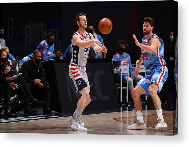 Nba Pro Basketball Acrylic Print featuring the photograph Brooklyn Nets v Washington Wizards by Ned Dishman