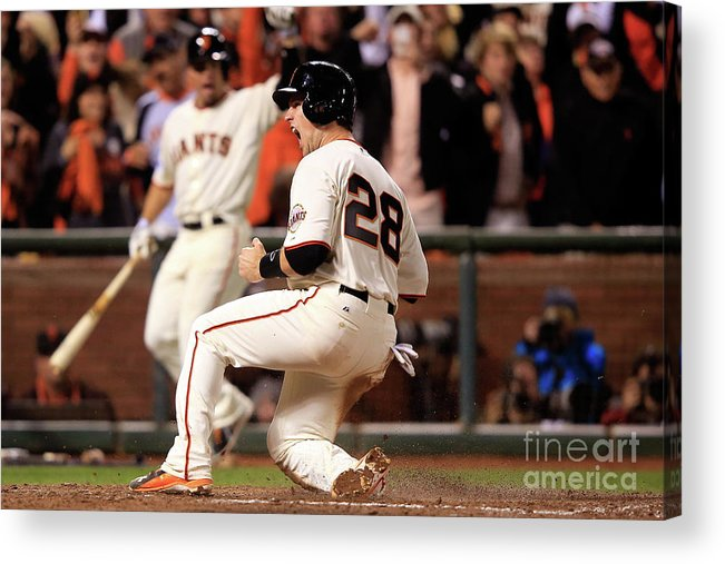 San Francisco Acrylic Print featuring the photograph Buster Posey by Jamie Squire