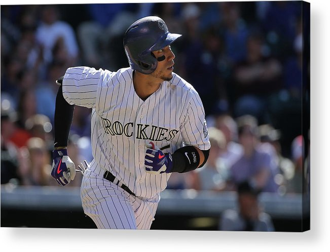 Three Quarter Length Acrylic Print featuring the photograph Carlos Gonzalez by Doug Pensinger