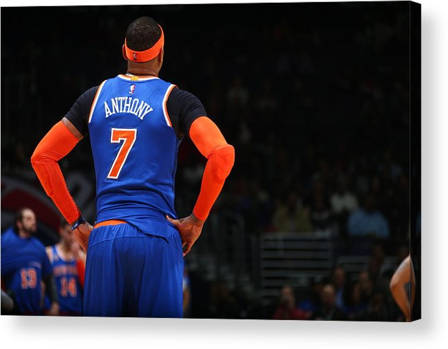 Nba Pro Basketball Acrylic Print featuring the photograph Carmelo Anthony by Ned Dishman