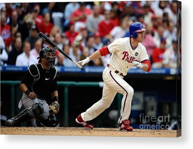 Playoffs Acrylic Print featuring the photograph Chase Utley by Jeff Zelevansky