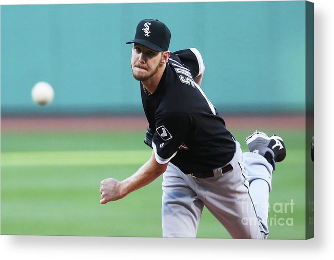 People Acrylic Print featuring the photograph Chris Sale by Adam Glanzman