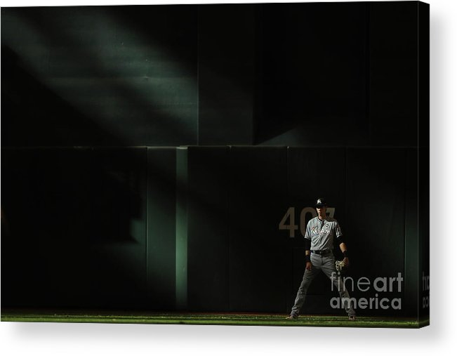 Ninth Inning Acrylic Print featuring the photograph Christian Yelich by Christian Petersen