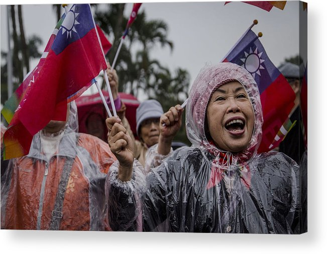 Taiwan Acrylic Print featuring the photograph Chu's Final Rally Ahead Of Taiwan Election by Ulet Ifansasti