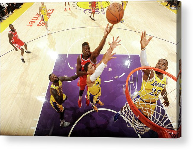 Nba Pro Basketball Acrylic Print featuring the photograph Clint Capela by Andrew D. Bernstein