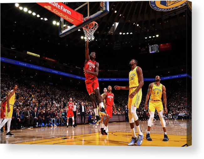 Nba Pro Basketball Acrylic Print featuring the photograph Clint Capela by Noah Graham