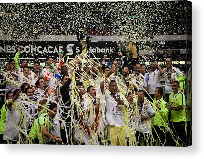 Mexico City Acrylic Print featuring the photograph Club America vs Tigres - CONCACAF Champions League Final by Anadolu Agency