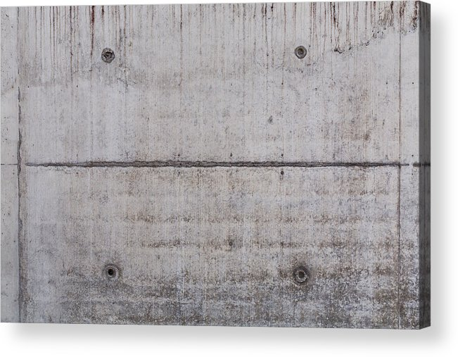 Material Acrylic Print featuring the photograph Concrete Wall Background by R.Tsubin