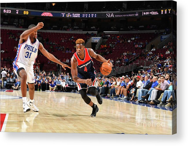 Nba Pro Basketball Acrylic Print featuring the photograph Danuel House by Jesse D. Garrabrant