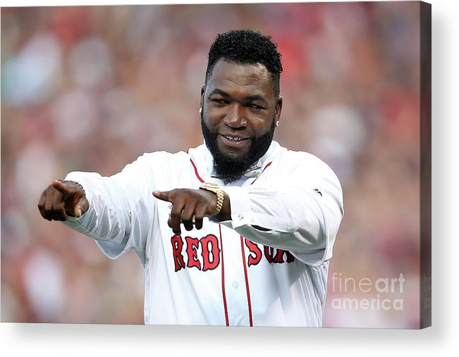 People Acrylic Print featuring the photograph David Ortiz by Adam Glanzman