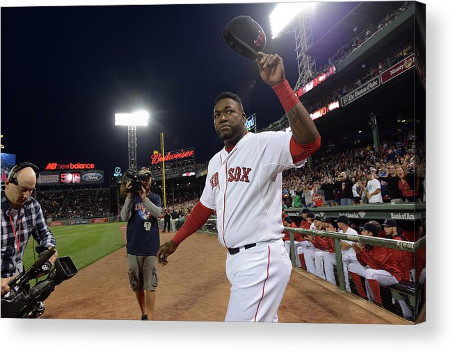 Crowd Acrylic Print featuring the photograph David Ortiz by Darren Mccollester