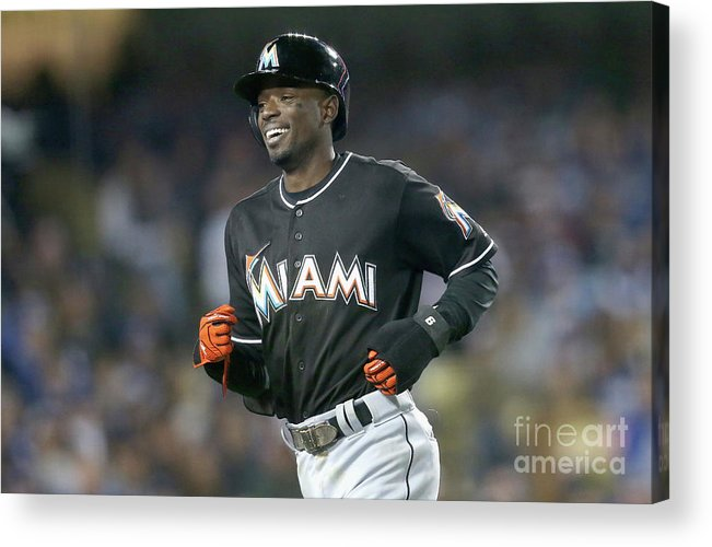 Three Quarter Length Acrylic Print featuring the photograph Dee Gordon by Stephen Dunn