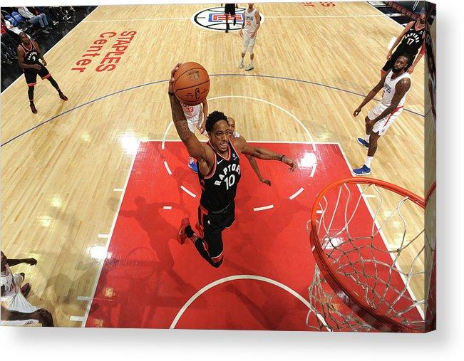 Nba Pro Basketball Acrylic Print featuring the photograph Demar Derozan by Andrew D. Bernstein