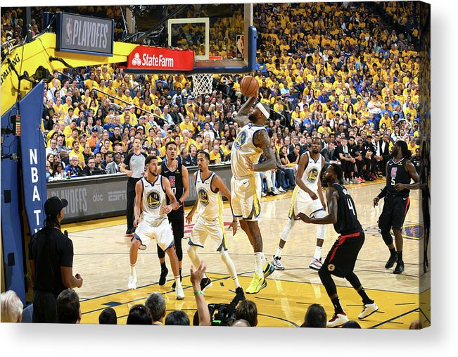 Playoffs Acrylic Print featuring the photograph Demarcus Cousins by Andrew D. Bernstein