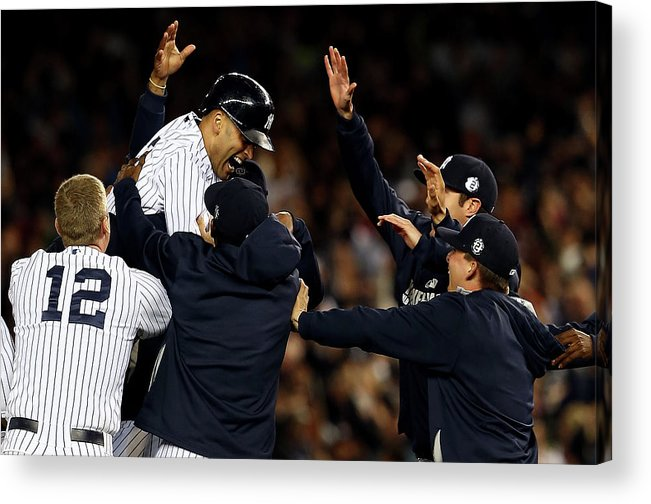 Ninth Inning Acrylic Print featuring the photograph Derek Jeter by Elsa