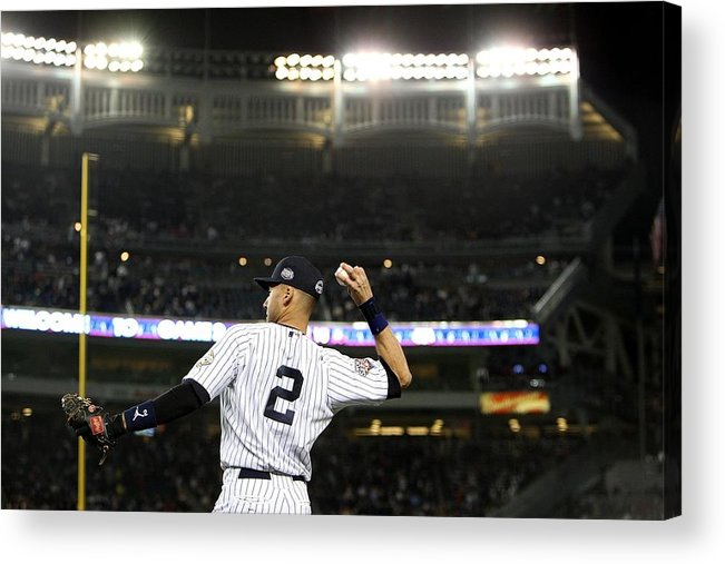 Game Two Acrylic Print featuring the photograph Derek Jeter by Jed Jacobsohn