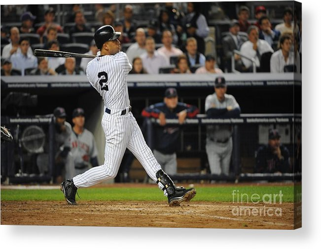 Playoffs Acrylic Print featuring the photograph Derek Jeter by Rich Pilling