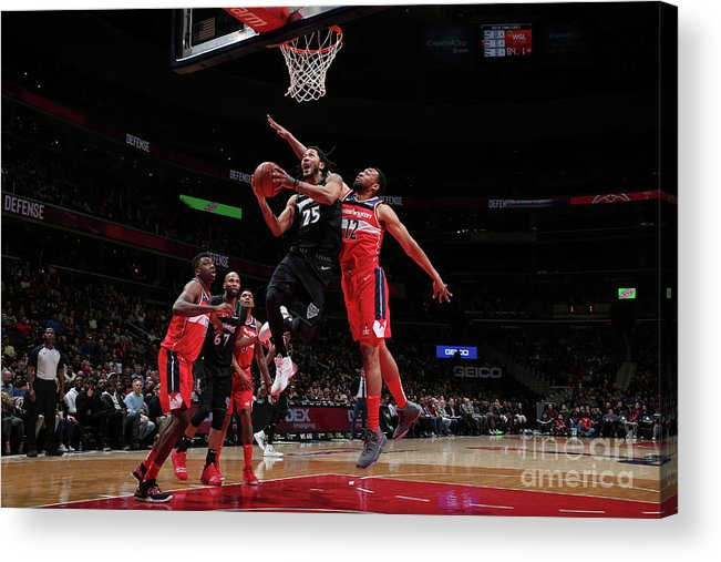 Nba Pro Basketball Acrylic Print featuring the photograph Derrick Rose by Ned Dishman