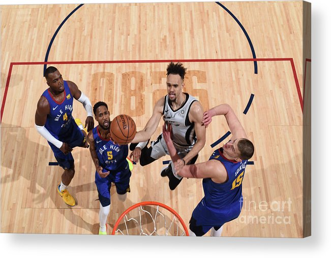 Nba Pro Basketball Acrylic Print featuring the photograph Derrick White by Garrett Ellwood