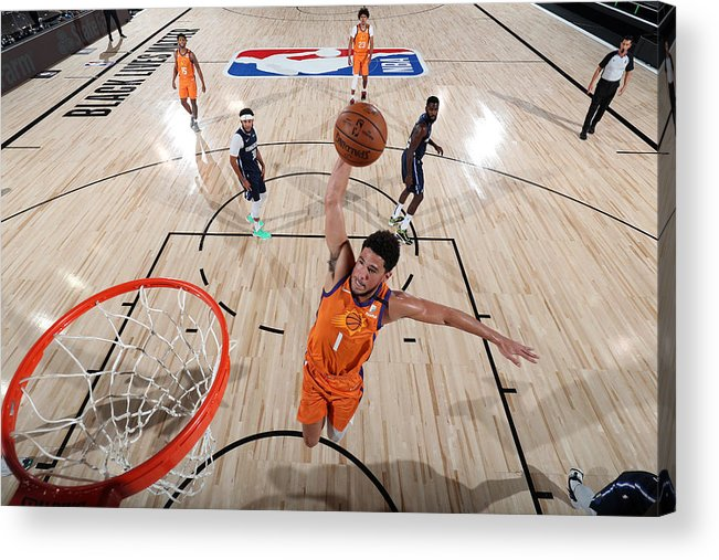 Nba Pro Basketball Acrylic Print featuring the photograph Devin Booker by David Sherman