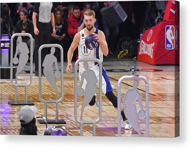 Nba Pro Basketball Acrylic Print featuring the photograph Domantas Sabonis by Bill Baptist