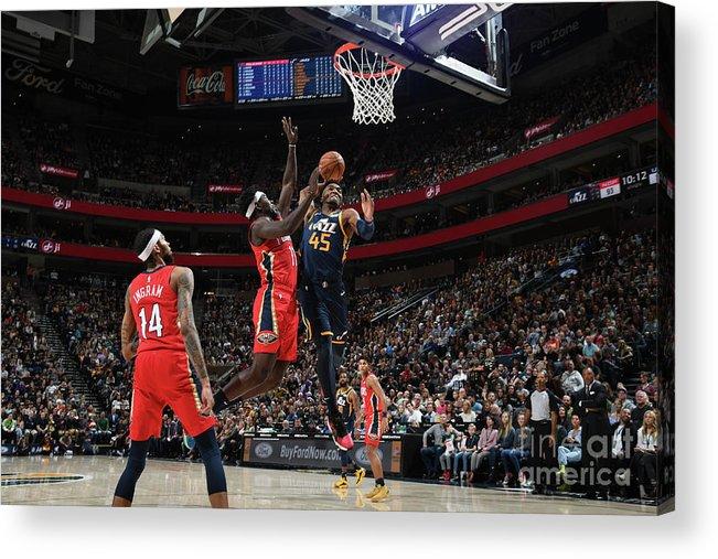 Nba Pro Basketball Acrylic Print featuring the photograph Donovan Mitchell by Noah Graham