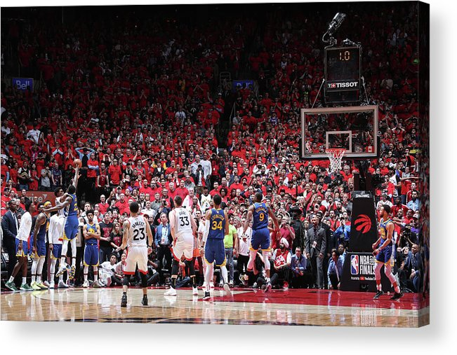 Playoffs Acrylic Print featuring the photograph Draymond Green and Kyle Lowry by Nathaniel S. Butler