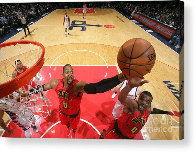 Playoffs Acrylic Print featuring the photograph Dwight Howard by Ned Dishman