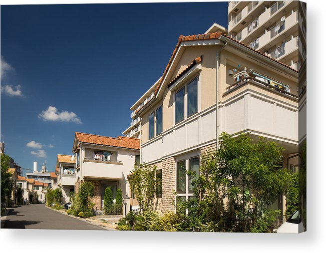 Clear Sky Acrylic Print featuring the photograph Emerging residential area by Y-studio