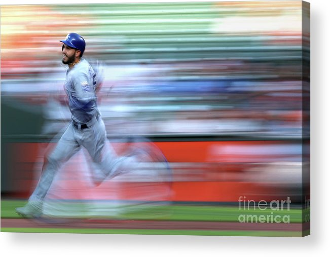 People Acrylic Print featuring the photograph Eric Hosmer by Patrick Smith