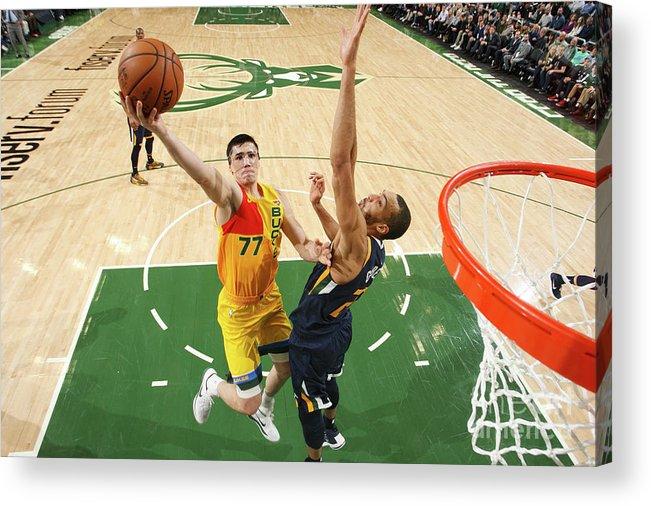 Nba Pro Basketball Acrylic Print featuring the photograph Ersan Ilyasova by Gary Dineen