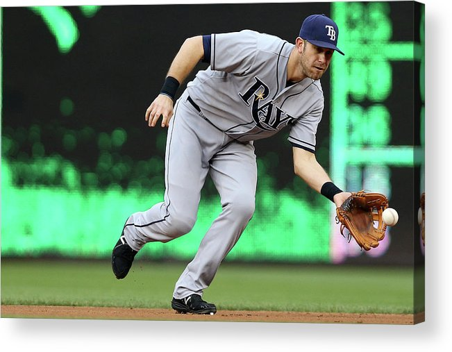 Second Inning Acrylic Print featuring the photograph Evan Longoria by Patrick Smith