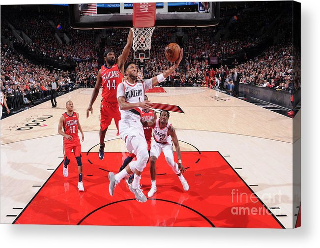 Nba Pro Basketball Acrylic Print featuring the photograph Evan Turner by Sam Forencich