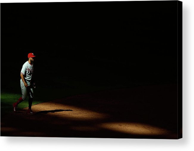 Ninth Inning Acrylic Print featuring the photograph Freddy Galvis by Christian Petersen