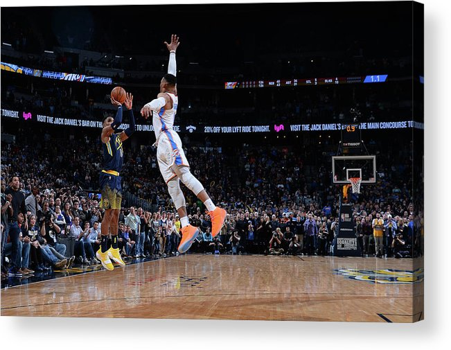 Nba Pro Basketball Acrylic Print featuring the photograph Gary Harris by Bart Young