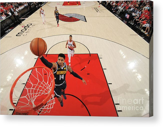 Nba Pro Basketball Acrylic Print featuring the photograph Gary Harris by Cameron Browne