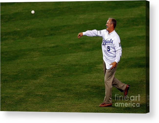 Game Two Acrylic Print featuring the photograph George Brett by Ed Zurga
