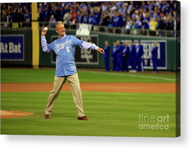 People Acrylic Print featuring the photograph George Brett by Jamie Squire