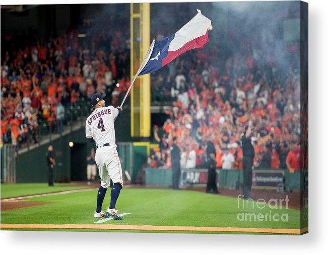 People Acrylic Print featuring the photograph George Springer by Billie Weiss/boston Red Sox