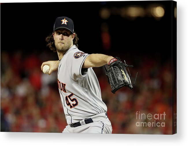 American League Baseball Acrylic Print featuring the photograph Gerrit Cole by Patrick Smith