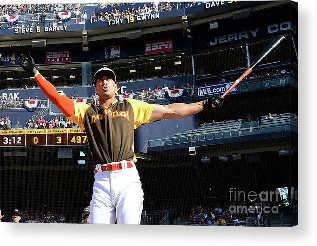Three Quarter Length Acrylic Print featuring the photograph Giancarlo Stanton by Harry How