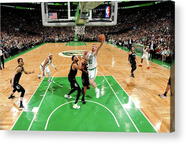 Nba Pro Basketball Acrylic Print featuring the photograph Gordon Hayward by Brian Babineau